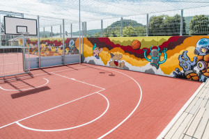 Mural for Hainburg Fun Court 2019